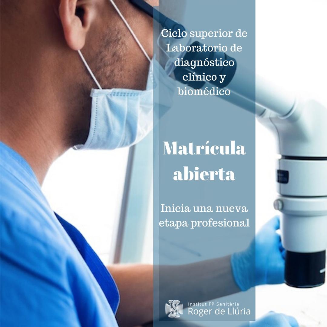 Grau superior en Laboratori Clínic i Biomèdic